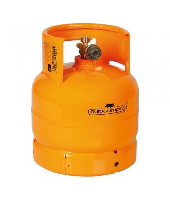 """Bombola GPL, uscita rubinetto verticale, attacco W20 x 1/14"""" sx maschio - 2 Kg (4,8 L)"""