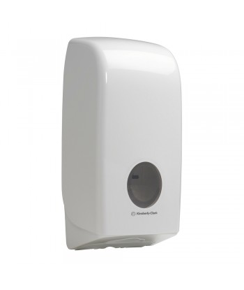 Dispenser in plastica per carta igienica intercalata