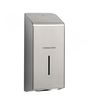 Dispenser in acciaio inox per carta igienica intercalata