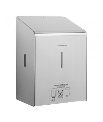 Dispenser in acciaio inox per asciugamani di carta rotolo XL