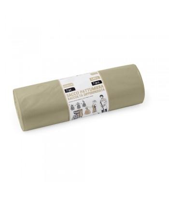 Rotolo 7 sacchi ambra professionali per raccolta differenziata - 90x120 cm