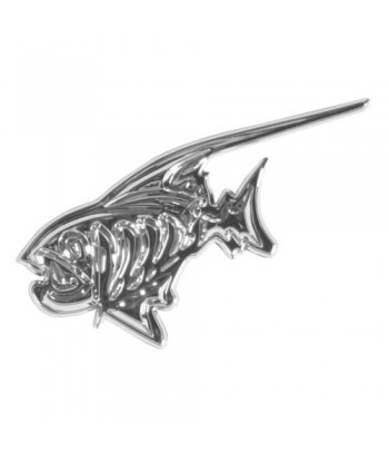 Emblema 3D cromato - Piranha