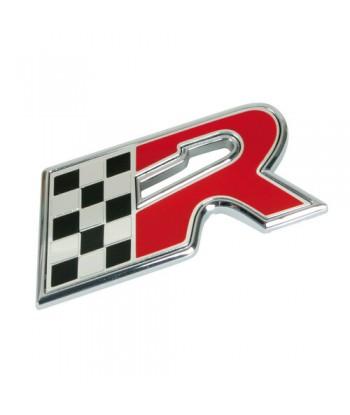 Emblema 3D cromato bicolore...