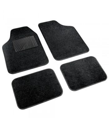 Cosmo, serie tappeti in moquette universali, 4 pz - Nero