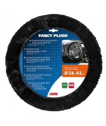 Fancy Plush, coprivolante elasticizzato in pelliccia sintetica - Ø 36-42 cm - Nero