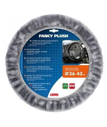 Fancy Plush, coprivolante elasticizzato in pelliccia sintetica - Ø 36-42 cm - Grigio