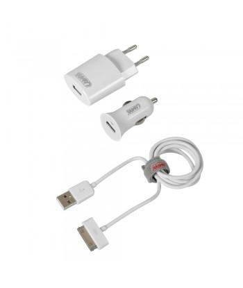 Kit 3 in 1 Apple Dock 30 Pin - 12/24V + 230V