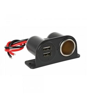 Extra-Power, presa corrente con doppia USB, 12/24V