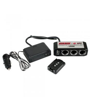 Duo-4, presa corrente tripla, USB, telecomando, 12V