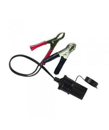 Presa corrente con clips batteria 12/24V