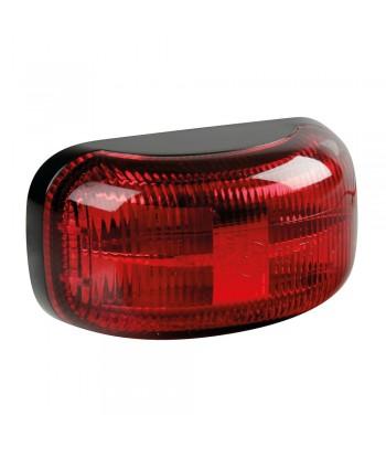 Luce ingombro a 4 Led, montaggio in superficie, 10/30V - Rosso