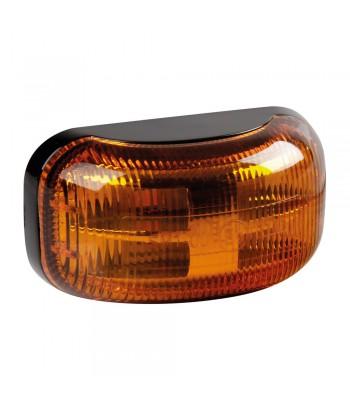 Luce ingombro a 4 Led, montaggio in superficie, 10/30V - Arancio