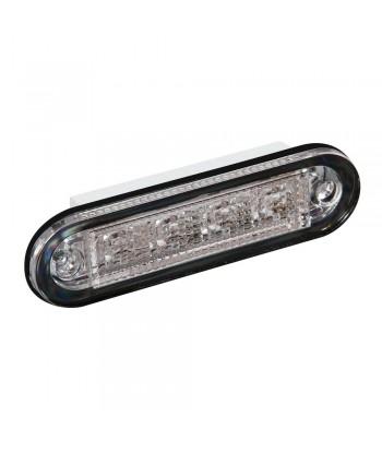 Premium, luce a 4 led, montaggio ad incasso, 12/24V - Rosso
