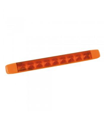 Illumi, luce ingombro a 9 Led, montaggio in superficie, 12/24V - Arancio - 1 funzione