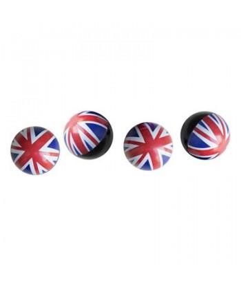 KIT 4 CAPPUCCI VALVOLA UK FLAG