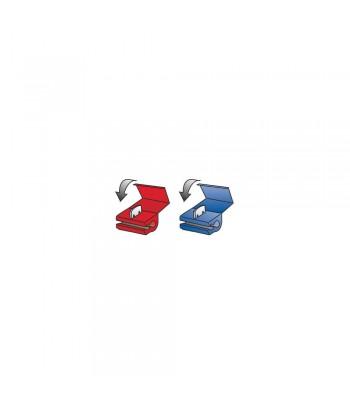 10 connettori rapidi a ghigliottina - Rosso / Blu