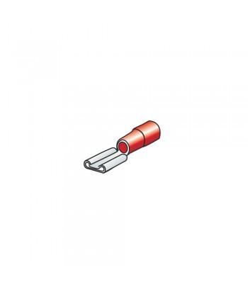 10 terminali - capicorda femmina piatti - Rosso