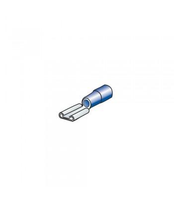 10 terminali - capicorda femmina piatti - Blu