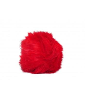Copripomello Fluffy Fur rosso