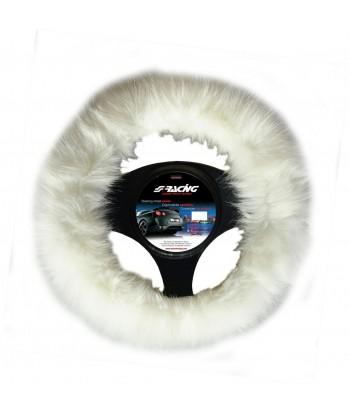 Coprivolante Fluffy Fur bianco