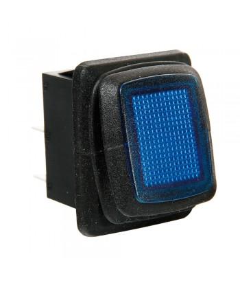 Interruttore impermeabile con spia a Led - 12/24V - Blu