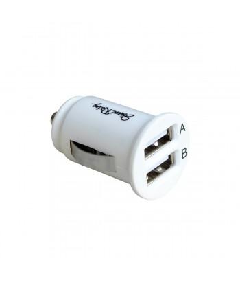 Presa USB doppia bianca