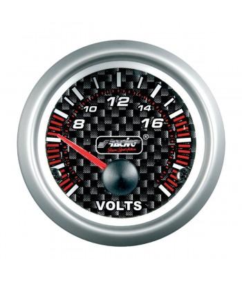 Voltmetro Carbon Look line