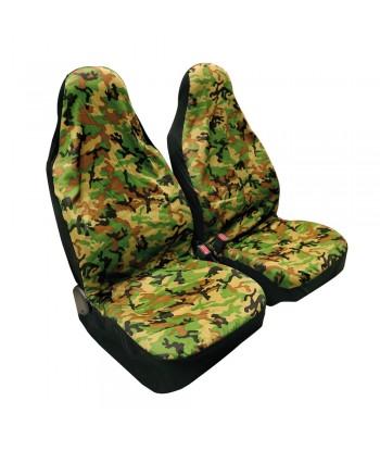 Camouflage, coppia coprisedili anteriori