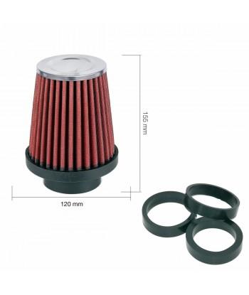Filtro conico cotone rosso