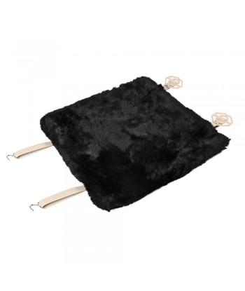 Comfort Max, coprisedile in montone - Nero