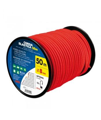 Corda elastica in bobina - Ø 8 mm - 50 m - Rosso
