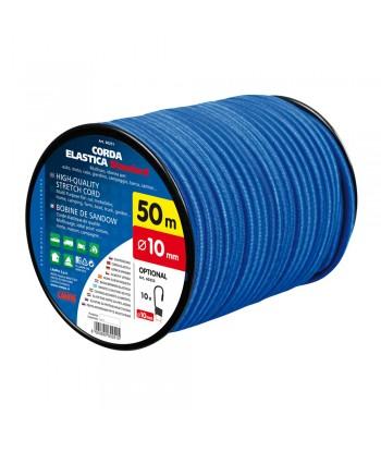 Corda elastica in bobina - Ø 10 mm - 50 m - Blu