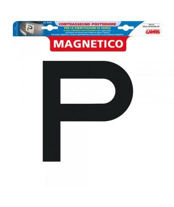 Contrassegno per esercitazioni guida  magnetico - Posteriore