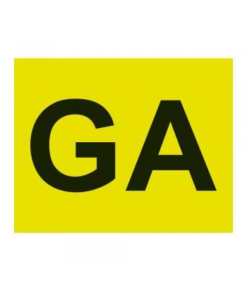 Contrassegno GA (Guida Accompagnata)  - Anteriore