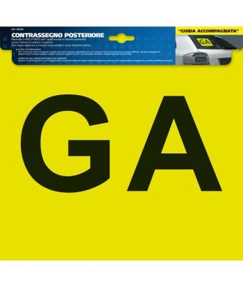 Contrassegno GA (Guida Accompagnata)  - Posteriore