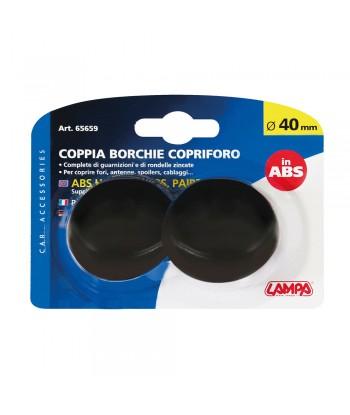 Coppia borchie copriforo in ABS - Ø 40 mm