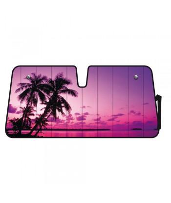 Scudo termico per parabrezza - 68x147 cm - Palm Beach Sunset