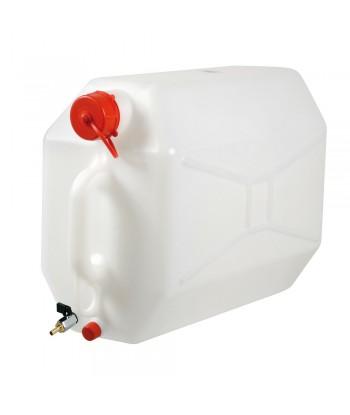 Tanica in polietilene con rubinetto in metallo - 25 L - Orizzontale