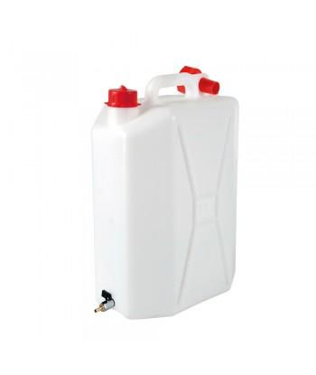 Tanica in polietilene con rubinetto in metallo - 15 L - Verticale