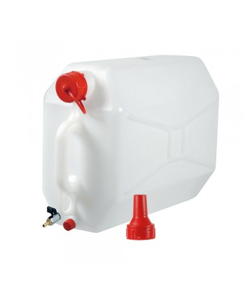 Tanica in polietilene con rubinetto in metallo - 15 L - Orizzontale