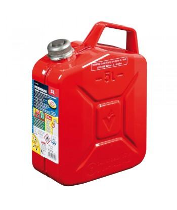Premium, tanica carburante in metallo - 5 L - Rosso