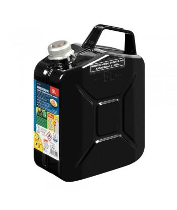 Premium, tanica carburante in metallo - 5 L - Nero