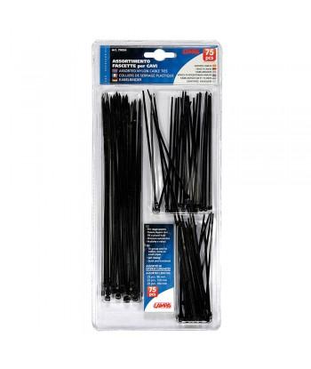 Fascette in nylon per cavi, set 75 pz