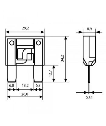Fusibile lamellare Maxi, 12/32V - 20A