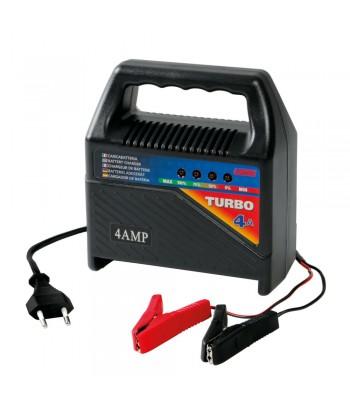 Turbo 4 A, caricabatteria 12V