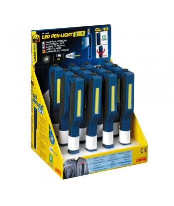 GL-10, lampada ispezione a Led con torcia - Display 12 pz