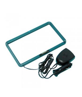 XL Neon Radio Frame 12V - 18,3x10,2 cm - Blu