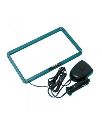 XL Neon Radio Frame 12V - 18,3x10,2 cm - Verde