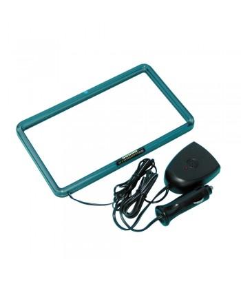 XL Neon Radio Frame 12V - 18,3x10,2 cm - Viola