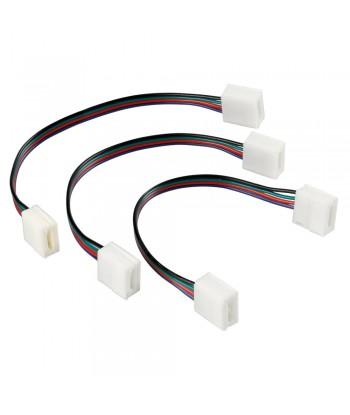 Connect-2, Connettori con prolunga per strisce a Led RGB, set 3 pz
